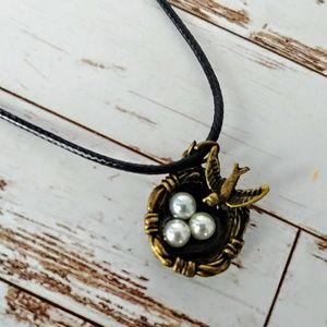 Vintage Bird Nest Necklace